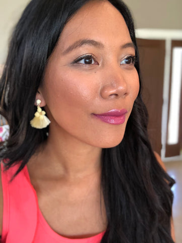 Shayne Thread Tassel Floral Earrings