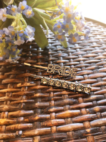 Bride Crystal Hair Bobby Pin Set