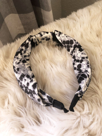 Mylo Snake Print Fabric Top Knot Headband