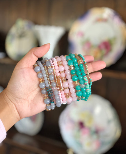 Janelle Pastel Glass Bead Sets