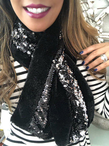 Sequins Sparkle Cozy Scarf