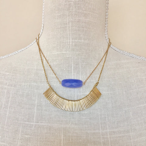 Joelle Blue Stone Delicate Necklace