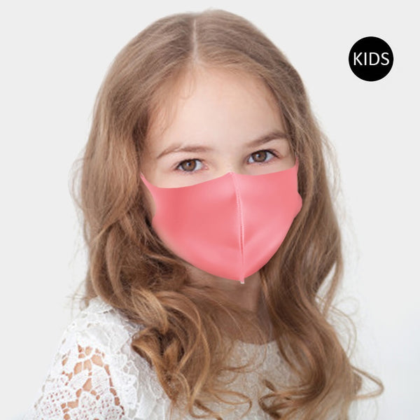Kid's Solid Poly Face Mask - 7 colors!