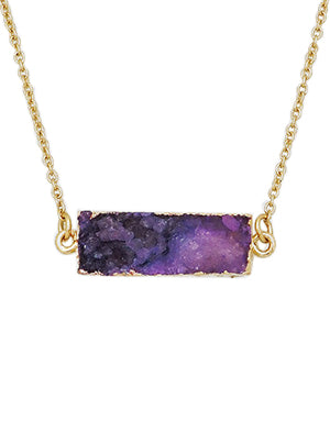 Shannon Druzy Bar Delicate Necklace