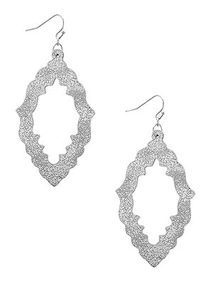 Paloma Leatherette Stencil Earrings