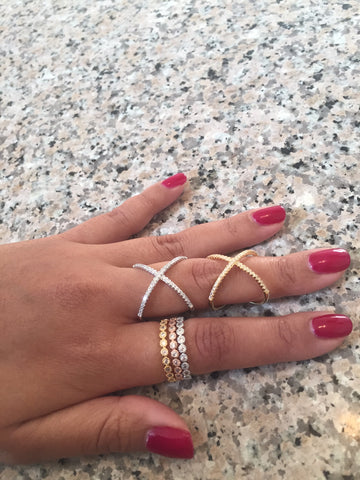 Mila CZ Criss Cross Ring