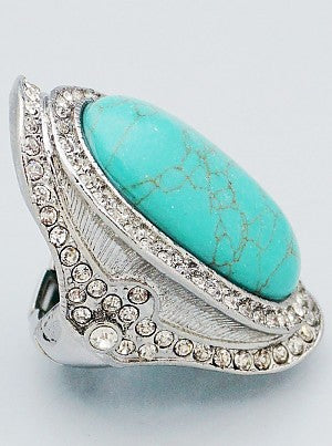 Sienna Turquoise Statement Ring