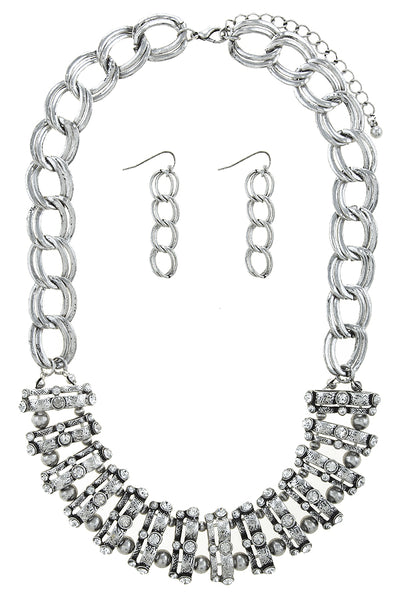 Rica Silver Necklace Set