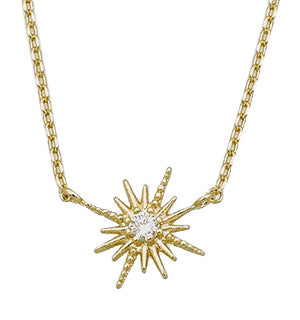 Sol Yellow Gold Necklace