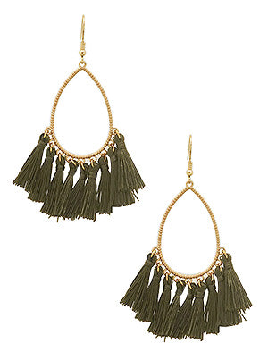 Caren Bestselling Teardrop Tassel Statement Earrings
