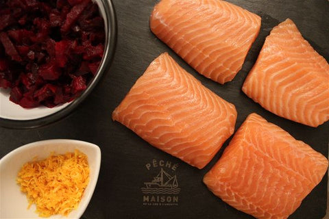 ingrédients saumon gravlax betteraves