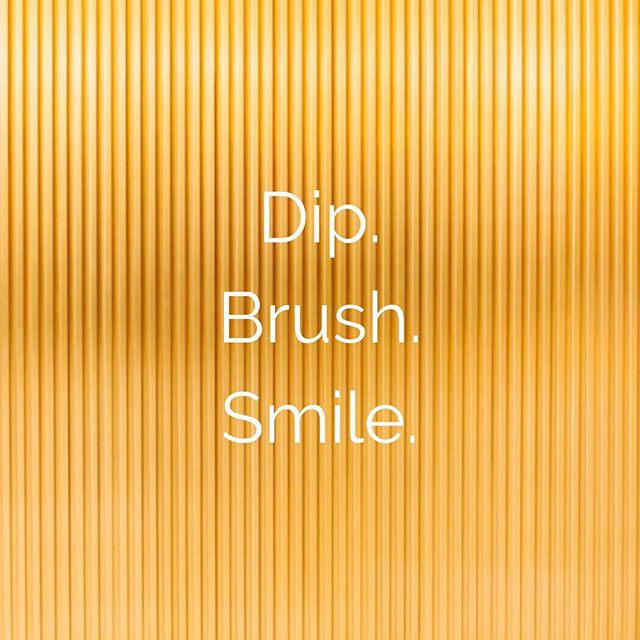 Dip. Brush. Smile. It's as simple as that.