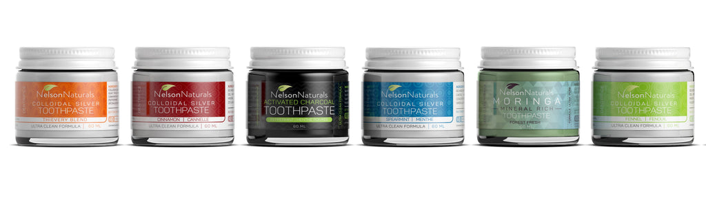 Sample Pack (6 Flavours) Toothpaste - nelsonnaturals remineralizing toothpaste