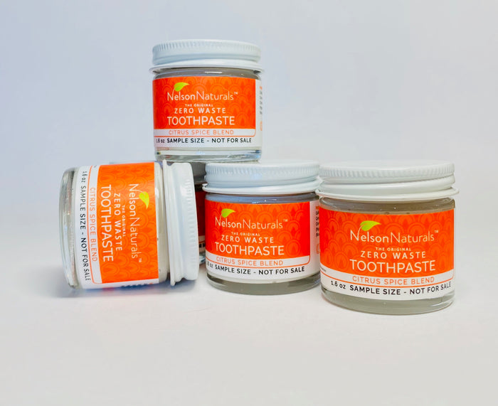 SAMPLE SIZE CITRUS SPICE!  45g Toothpaste - nelsonnaturals remineralizing toothpaste