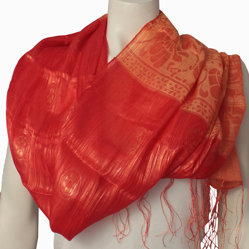 Ladies Scarf Sangha Red