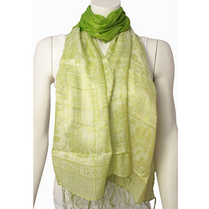 Ladies Scarf Sangha Green 4