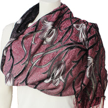 Ladies Scarf Kinnari purple tulip