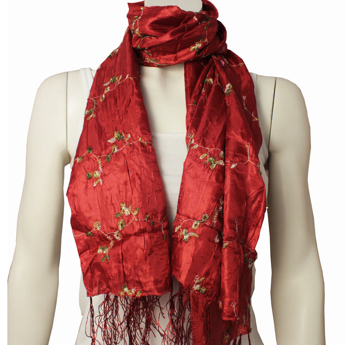 Silk Ladies Scarf Naga terracotta