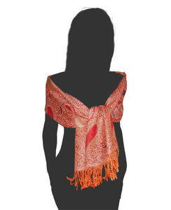 Cashmere luxury scarf orange