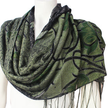 Ladies Scarf Kinnari green tulip