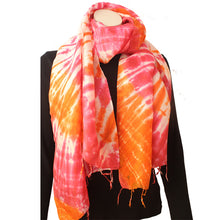 Silk Luxury Scarf red-yellow