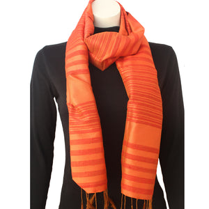 Silk Luxury Scarf orange