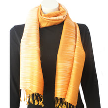 Silk Luxury Scarf yellow-rainbow