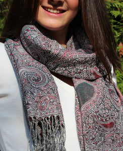 Cashmere luxury scarf rustical 7