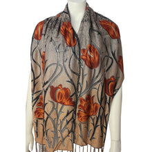 Ladies Scarf Kinnari terracotta tulip