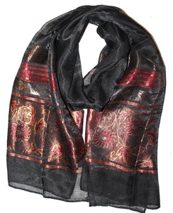 Ladies Scarf Italic Black