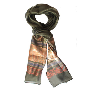 Ladies Scarf Italic Dark Green 3