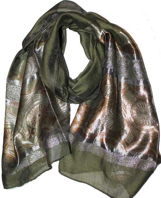 Ladies Scarf Italic Dark Green
