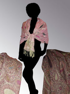 Cashmere luxury scarf pink