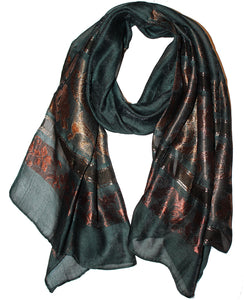 Ladies Scarf Italic Dark Green 2
