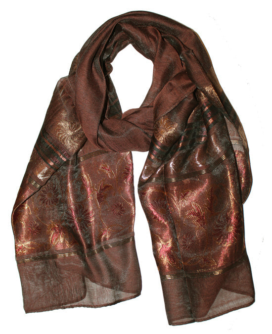 Ladies Scarf Italic Brown