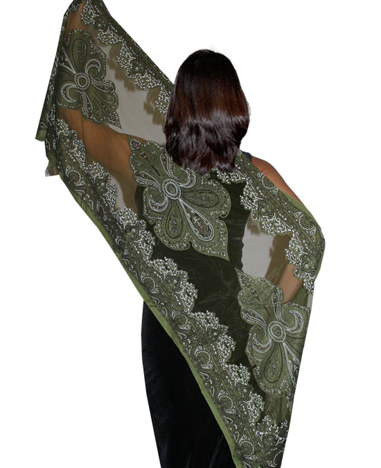 Ladies Scarf Noblesa Dark Green