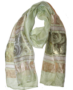 Ladies Scarf Italic Green 3