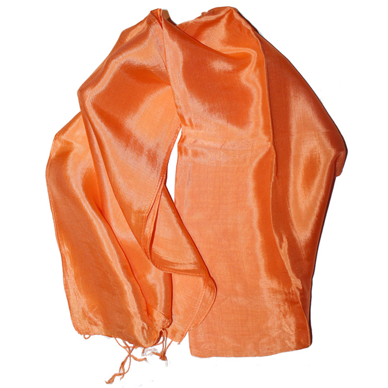 Silk Scarf Erewan orange 2