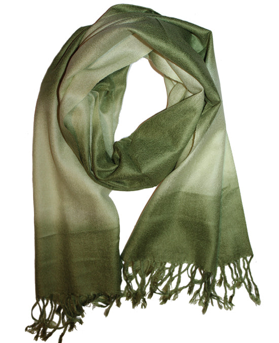 Cashmere Scarf Classic Green 2 G
