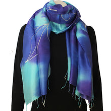 Silk Luxury Scarf blue