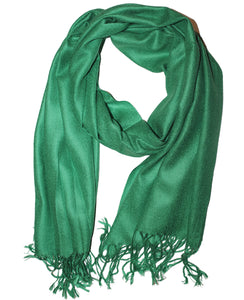 Cashmere Scarf Classic Green Smaragd