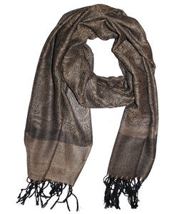 Cashmere Scarf Classic Brown Gold 2