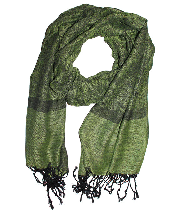 Cashmere Scarf Classic Green 4