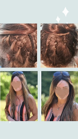 Before and after hair integration