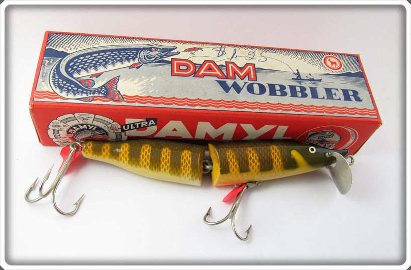 Vintage Damyl Dam Jointed Wobbler Lure In Box