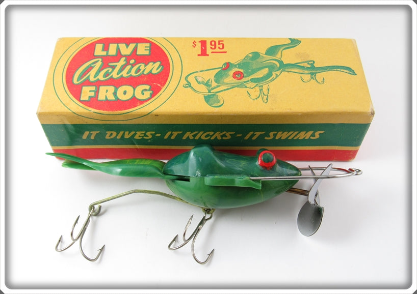 Vintage Action Frog Corp Live Action Frog Lure In Box