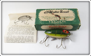 Vintage Clark's Perch Scale Water Scout Lure In Box 114