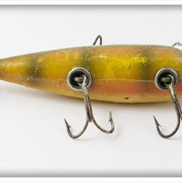 Vintage Heddon Early Perch 150 Five Hook Minnow Lure 159L