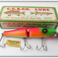 Vintage Creek Chub Rainbow Fire Jointed Pikie Lure In Box 2631