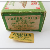 Creek Chub Rainbow Fire Jointed Pikie In Box